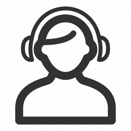 call center, consultant, headphones icon