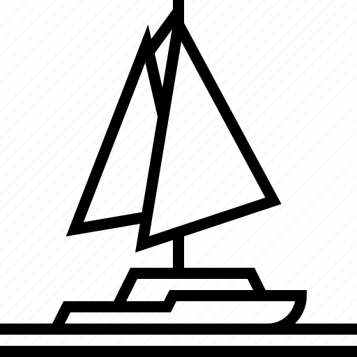 sea, yacht icon
