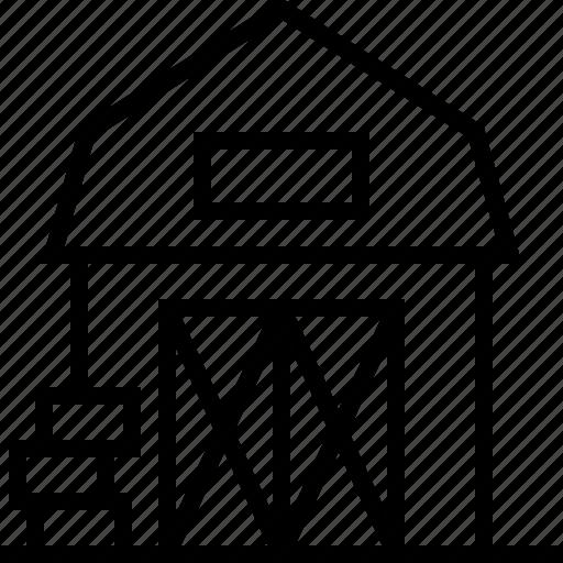 architecture, farm icon