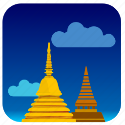 buildings, center, cultural, laos icon