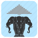 animals, culture, elephants, laos icon