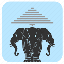 animals, culture, elephants, laos icon