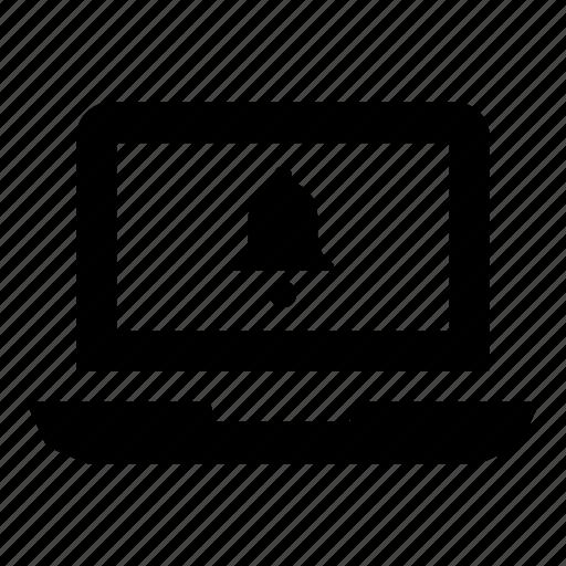 alert, laptop, laptop computer, laptop screen, macbook, notification, reminder icon