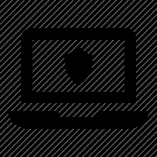 firewall, laptop, laptop interface, laptop screen, macbook, virus protection, work laptop icon
