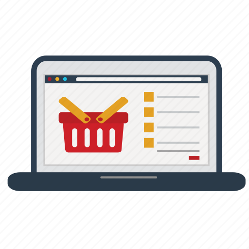buy, cart, laptop, online, shop, store, store online icon