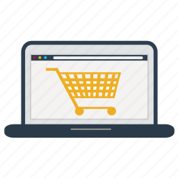 cart, ecommerce, laptop, online, shop, shopping, store icon