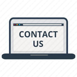 contact, contact us, customer service, laptop, online, store, support icon