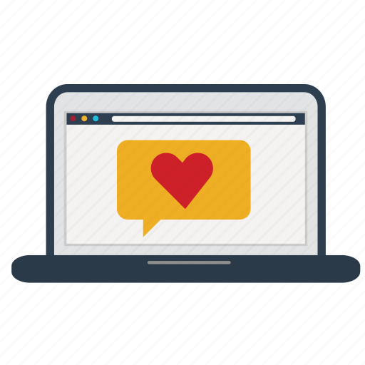 email, good, heart, laptop, like, service, support icon