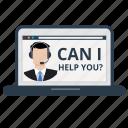 customer service, help, information, laptop, online, service, support
