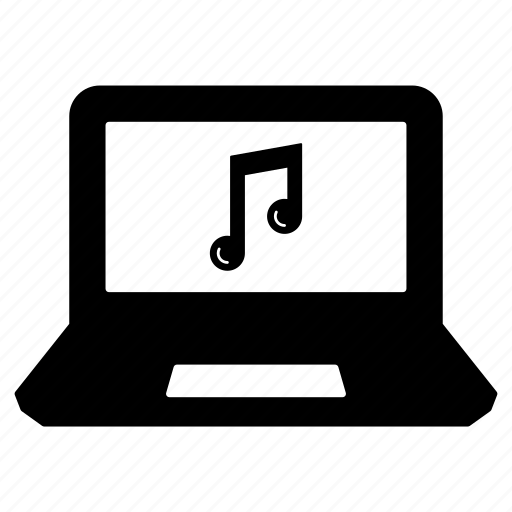 computer, laptop, laptop computer, music, music creation, pc, songs icon