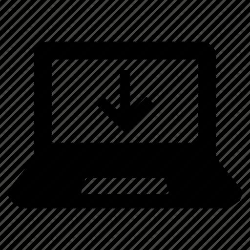 computer, device, download, laptop, laptop computer, laptop screen, pc icon