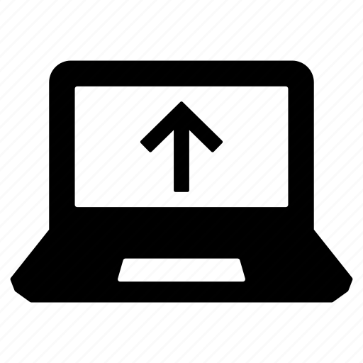 computer, device, laptop, laptop computer, laptop screen, pc, upload icon