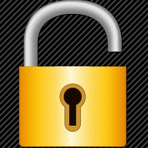 Open lock, password, safety, secret, secure, security ...