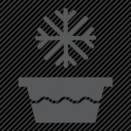 basin, cold, ice, snowflake, temperature, wash, water icon