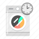 clean, laundry, wash, washing machine, washing time icon