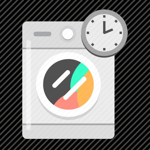 clean, laundry, wash, washing machine, washing time icon