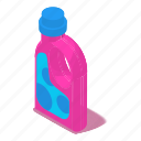 bottle, detergent, isometric, laundry, liquid, object, plastic