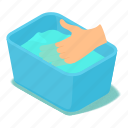 basin, blue, clothes, isometric, object, soap, water