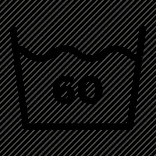 clear, laundry, machine, medium, temperature, wash icon
