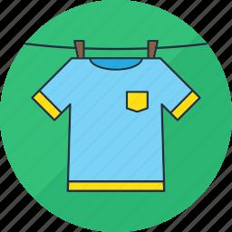 clothes, dry, hang, laundry, shirt, tshirt, washing icon