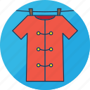 laundry, clothes, dress, hang, kimono, shirt, washing