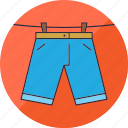 clothes, hang, laundry, pants, shorts, washing, wear icon