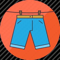 clothes, hang, laundry, pants, shorts, washing, wear icon