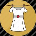 clothes, clothing, dress, hang, laundry, shirt, washing icon