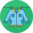 clothes, clothing, hang, jacket, laundry, shirt, washing icon