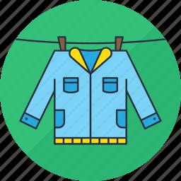 clothes, clothing, hang, jacket, laundry, shirt, washing icon