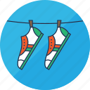 cleaning, hang, laundry, shoe, shoes, sneakers, washing icon