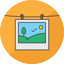 hang, landscape, laundry, nature, photo, photography, snapshop icon