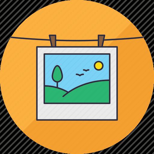 hang, landscape, laundry, nature, photo, photography, snapshop icon