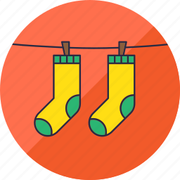 clothes, clothing, hang, laundry, socks, washing, wear icon