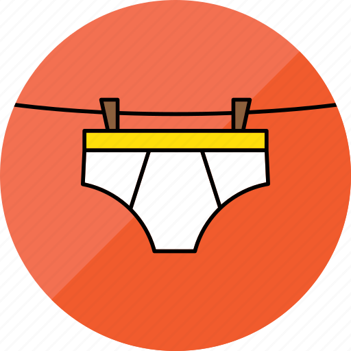 briefs, clothes, dry, hang, laundry, underwaer, washing icon