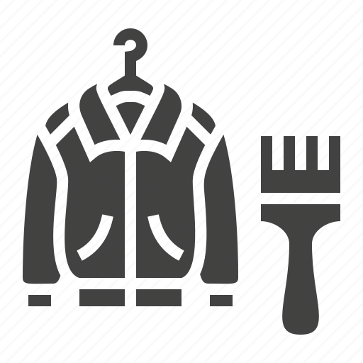 clothes, jacket, leather, repair icon