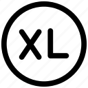 extra, large, measure, size, xl icon icon