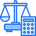 calculation, calculator, court, law, lawyer, money, scales