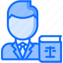 book, constitution, court, justice, law, lawyer, scales icon