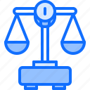 court, justice, law, lawyer, money, scales icon
