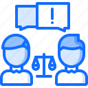 conflict, court, justice, law, lawsuit, lawyer icon