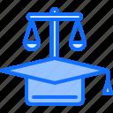 cap, court, education, graduate, law, lawyer, training