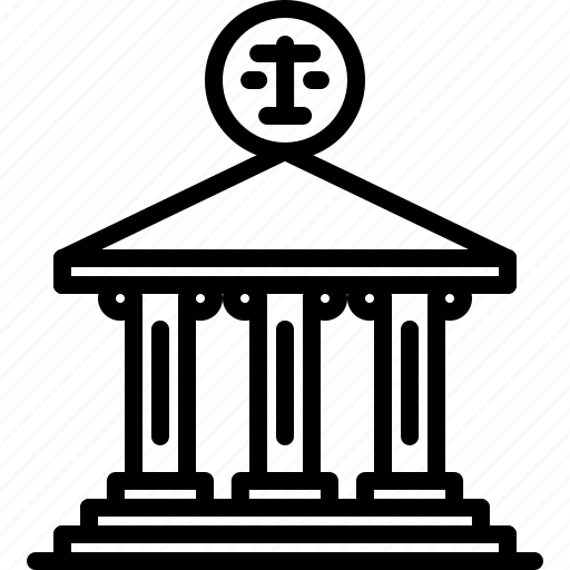 Building, court, courthouse, justice, law, lawyer, scales icon - Download on Iconfinder