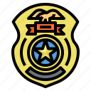 badge, law, police, security, symbolic