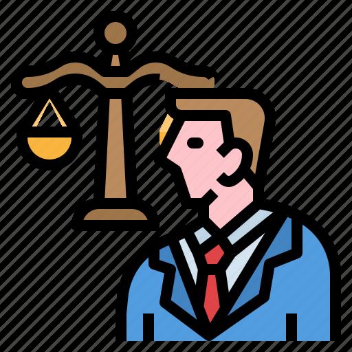 Judge, judgement, lawyer, legal, man icon - Download on Iconfinder