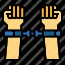 handcuffs, arrest, police, hand
