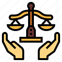 justice, balance, law, hand