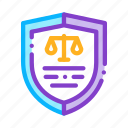 court, judgement, law, police icon