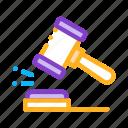 court, gavel, judgement, law icon