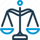 crime, goverment, judgement, justice, law, scale icon